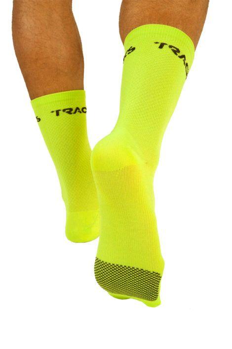 mitjo-ciclisme-20-cm-groc-fluor-darrera-fluor