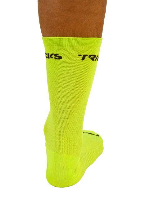 mitjo-ciclisme-20-cm-groc-fluor-lateral-fluor